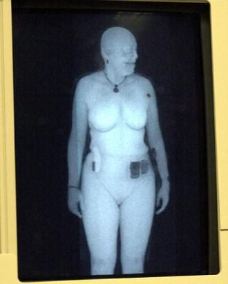 radar image of naked woman